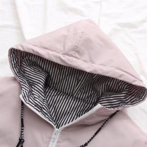 New Women's Letter Pattern Casual Hooded Cotton Garment -