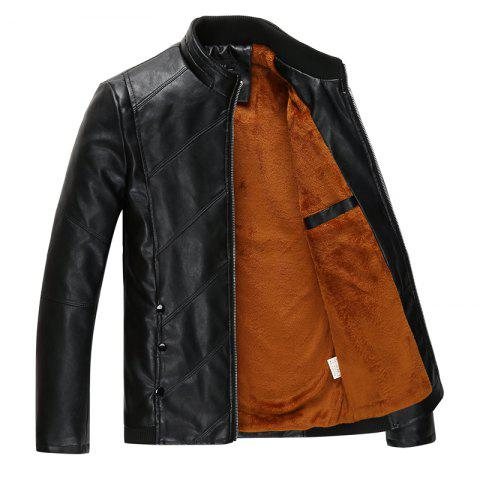Discount Men's Fashion PU Leather Jacket