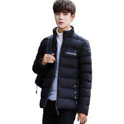 Men's Stand Collar Windbreaker Jacket -