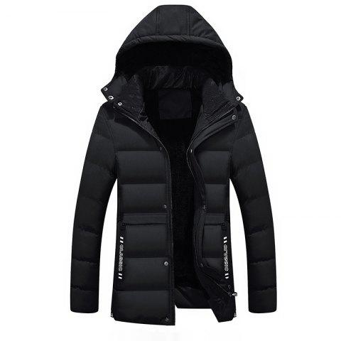 Store Men's Fashion Winter Thicken Cotton Coat With Removable Hood