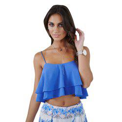 Lotus Leaf Sexy Suspenders Cami Top Exposed Beach Navel -