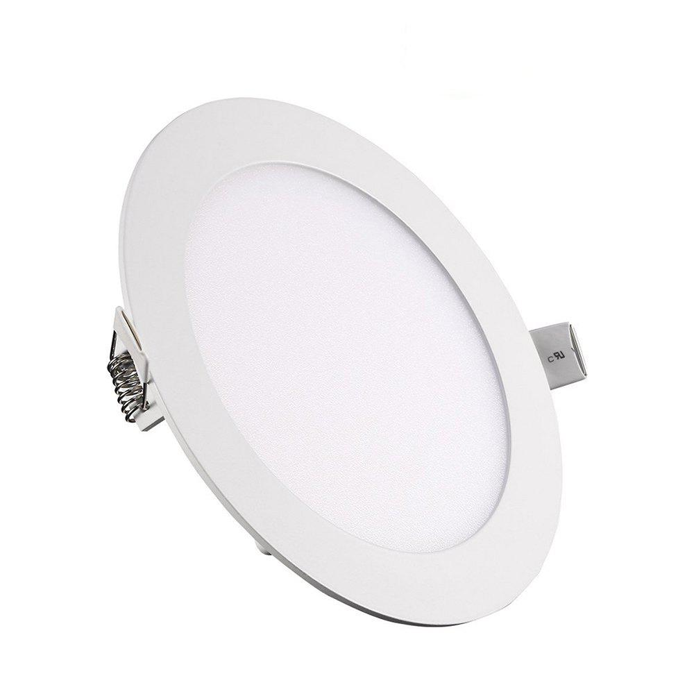 Outfit 9W Dimmable Round Ultra-thin LED Panel Light Lamp AC100 - 240V 5pcs