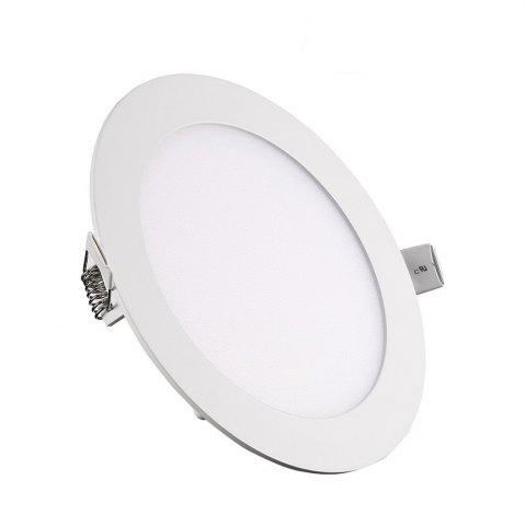 Cheap 12W Dimmable Round Ultra-thin LED Panel Light Lamp AC 100 - 240V 5pcs