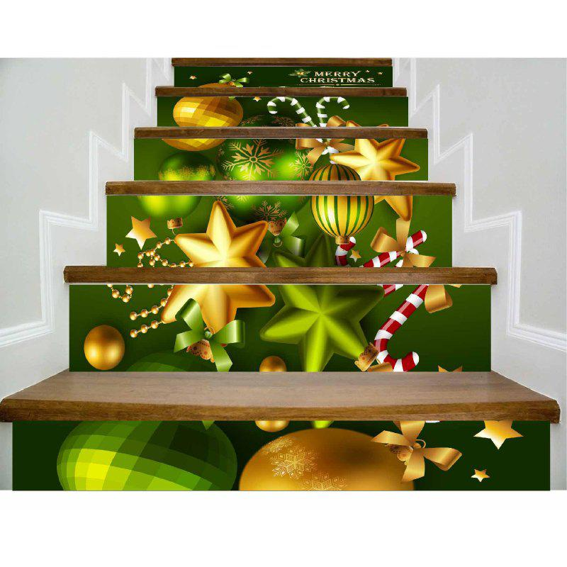 Outfit DSU Newest Festival Stair Sticker Decals Murals Christmas Decorations for Home Decor 6Pcs