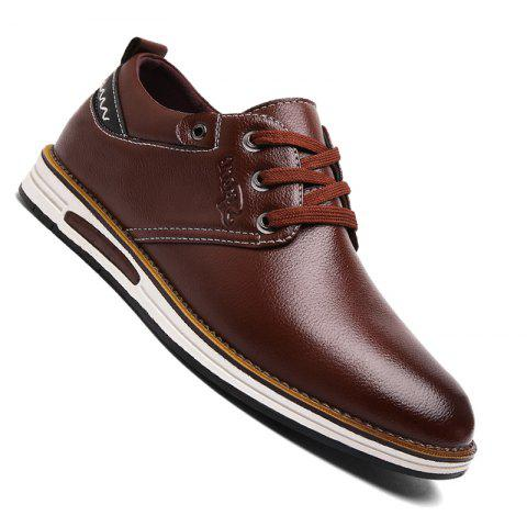 buy cheap best prices Men Casual Trend for Fashion Lace Up Leather shoes - Brown 43 free shipping with paypal cheap 100% authentic brand new unisex online BPwPDeGQXc