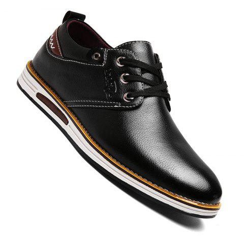 clearance shopping online Men Casual Lace Up Leather Shoes - Black 43 for cheap cheap online low price fee shipping online cheap sale amazon MnI5tL