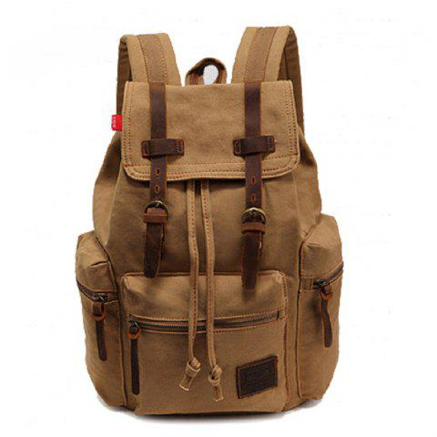 Sale AUGUR Fashion Men Backpack Vintage Canvas School Bag Travel Large Capacity