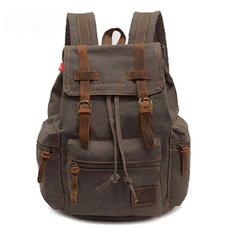 Fancy AUGUR Fashion Men Backpack Vintage Canvas School Bag Travel Large Capacity