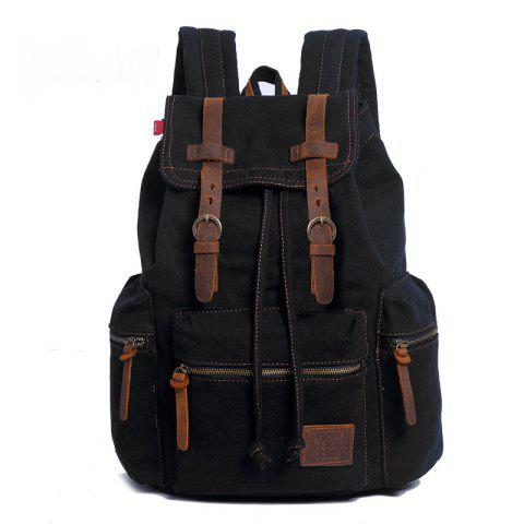 Store AUGUR Fashion Men Backpack Vintage Canvas School Bag Travel Large Capacity