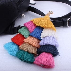 Bohemian Multicolor Tassels Handmade Bag Pendant Key Ring -
