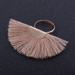 Bohemian Style Multi-attribute Alloy Tassel Rings -