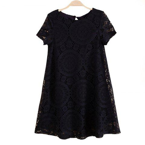 Discount Women's Wear Casual Short Sleeved Lace Dished Dresses