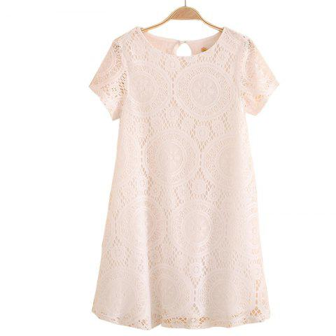 Chic Women's Wear Casual Short Sleeved Lace Dished Dresses