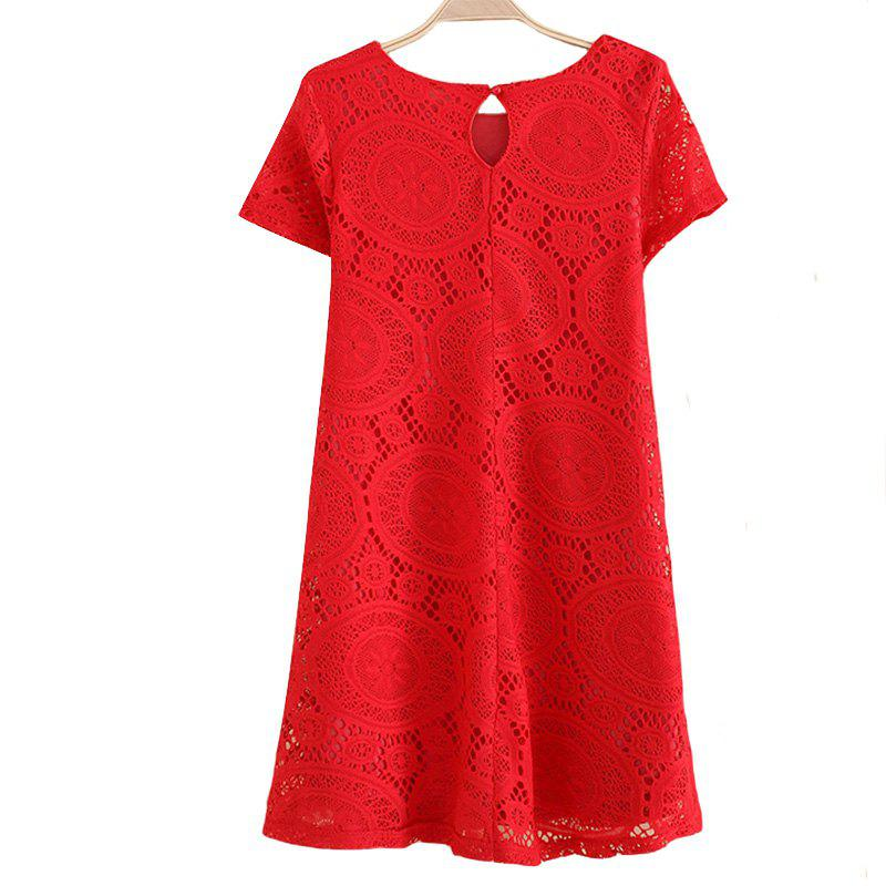 New Women's Wear Casual Short Sleeved Lace Dished Dresses