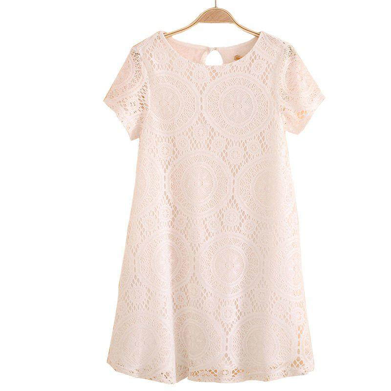 Cheap Women's Wear Casual Short Sleeved Lace Dished Dresses
