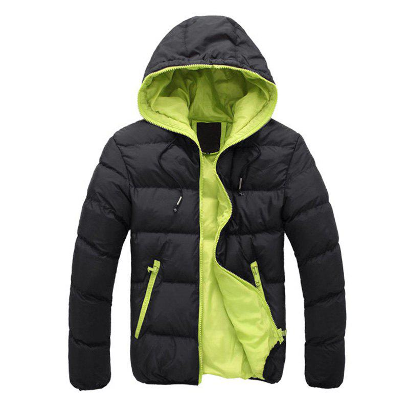 Online Man's Hooded Jacket