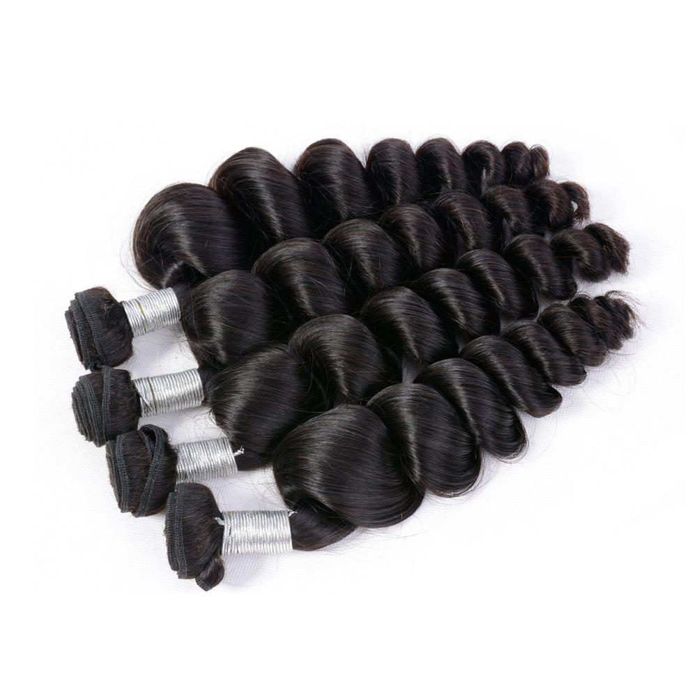 Fashion Brazilian Unprocessed Loose Wave Natural Color Virgin Human Hair Extension 1 bundles