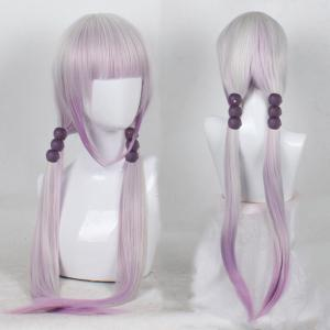 Anime Pink Color Long Straight Synthetic Hair Cosplay Wig -