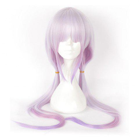 Latest Anime Pink Color Long Straight Synthetic Hair Cosplay Wig