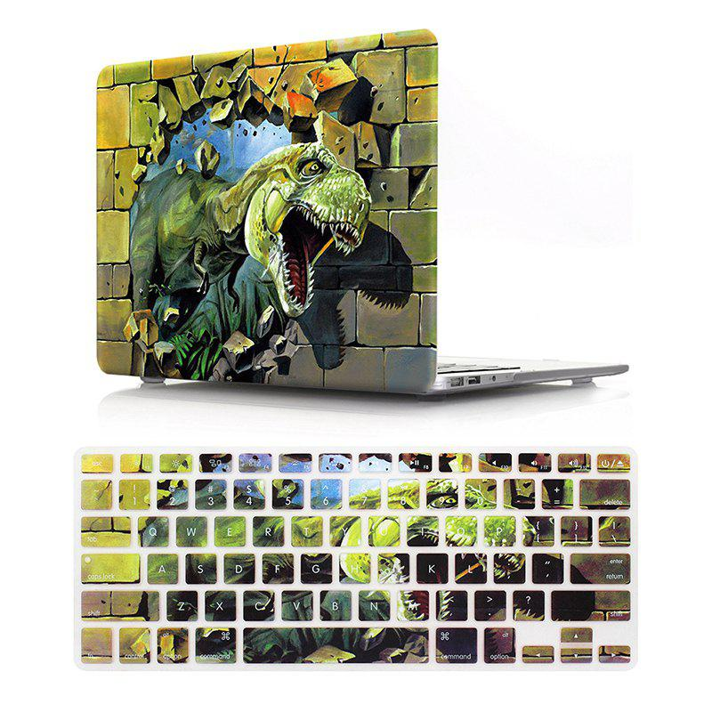 Computer Shell Laptop Case Keyboard Film Set for MacBook Pro 15.4  inch 2016 -3D Tyrannosaurus PatternHOME<br><br>Color: GREEN;