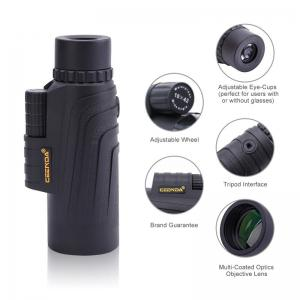 Telescope Compact Adjustable Focus Single Tube Portable Outdoor Travel Monocular HD Scope BAK4 Prism FMC for Bird Watching Camping Hunting -
