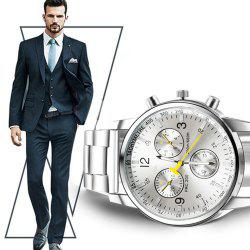 Men Luxury Full Stainless Steel Quartz Watch 2017 new Fashion -
