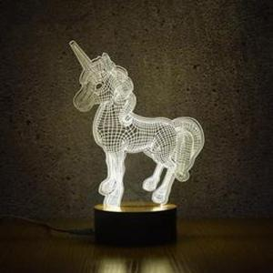 3D Unicorn Night Lights Creative Acrylic 3D LED Light Table Lamp Decotation Ligts for Home/kids Room/gift -