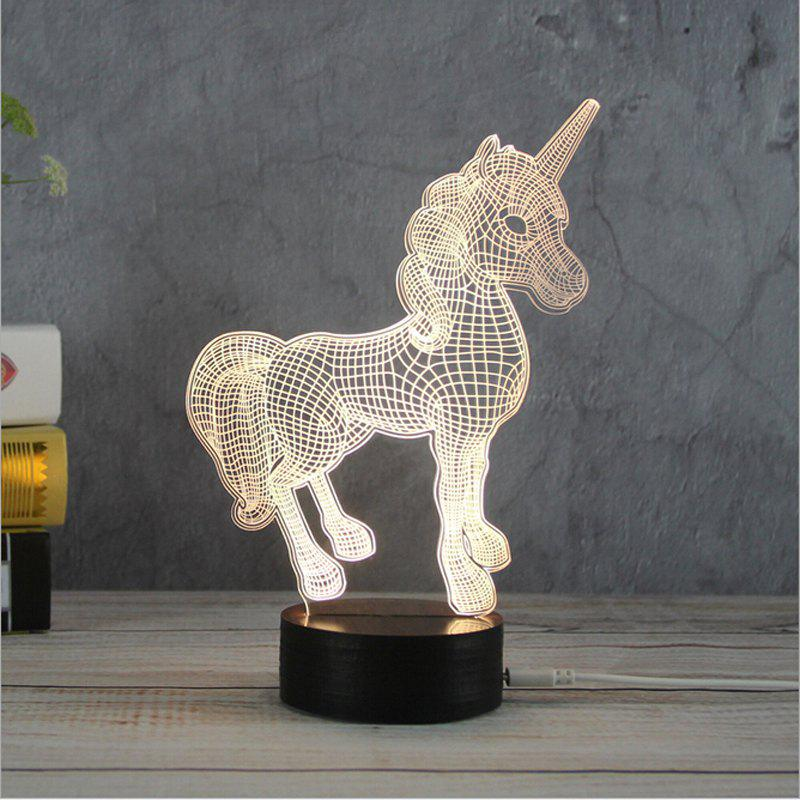 Trendy 3D Unicorn Night Lights Creative Acrylic 3D LED Light Table Lamp Decotation Ligts for Home/kids Room/gift