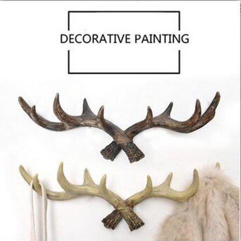 Hot Retro Country Style Resin Antlers Wall Hanging Wall Decoration Creative Clothes Hat Support for Home