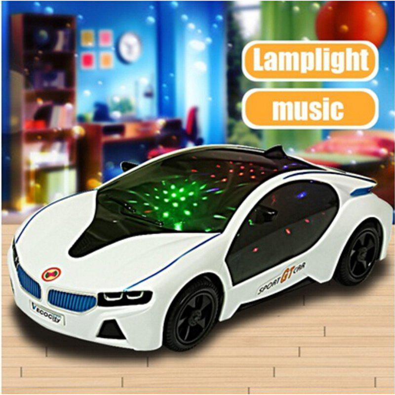 3D LED Flashing Light Car Toys Music Sound Electric ToyHOME<br><br>Color: WHITE;