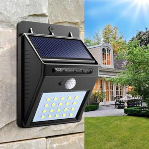 Great Gift Solar Powered Waterproof 20 LED Motion Sensor Wall Light for Patio Garden -