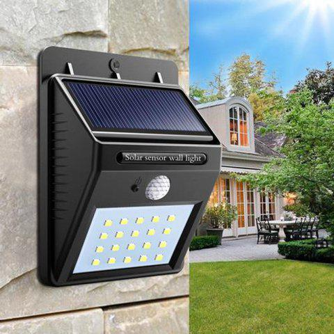 Unique Great Gift for Christmas Solar Powered Waterproof 20 LED Motion Sensor Wall Light for Patio Garden