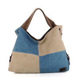 Women's Handbag Classic Vintage Color Patchwork Large Capacity Casual Bag -