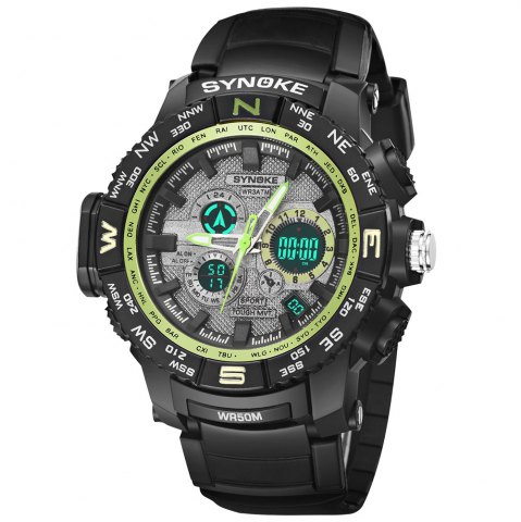 Latest SYNOKE 6509 Outdoor Sports Mountaineering Student Male Electronic Watch