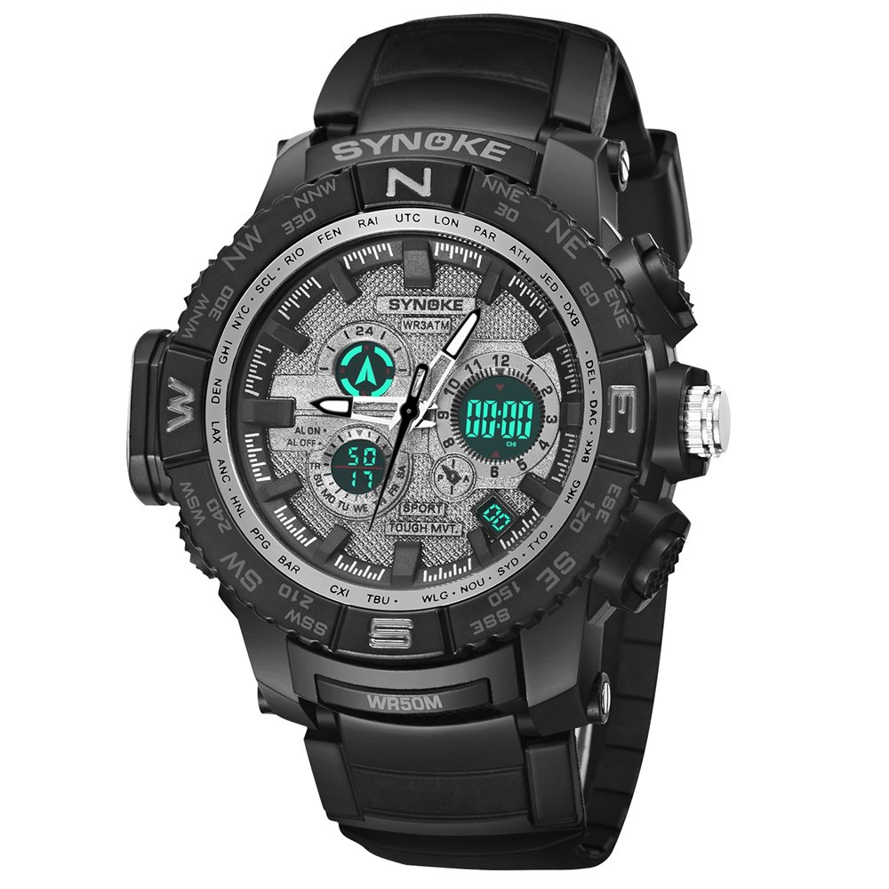 Fashion SYNOKE 6509 Outdoor Sports Mountaineering Student Male Electronic Watch