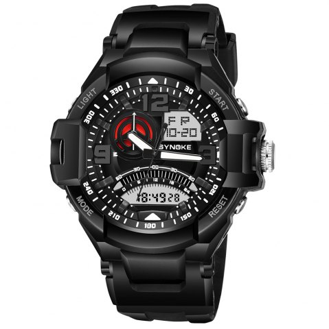 Discount SYNOKE 67876 Trendy Waterproof Multifunctionable Men Watch