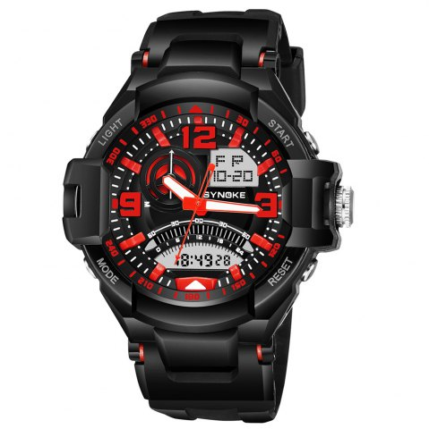 Trendy SYNOKE 67876 Trendy Waterproof Multifunctionable Men Watch