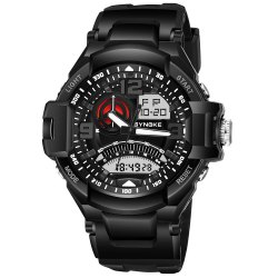 SYNOKE 67876 Trendy Waterproof Multifunctionable Men Watch -
