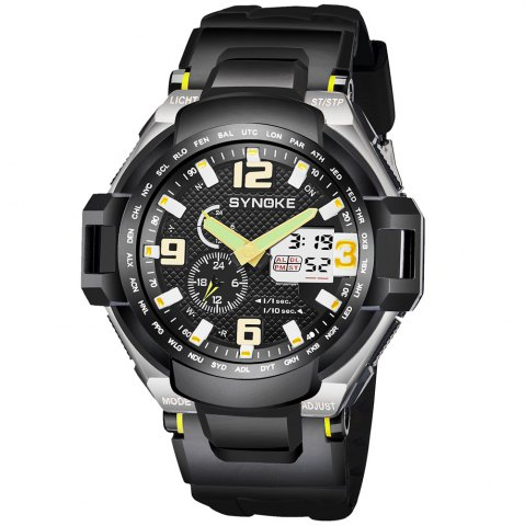Unique SYNOKE 67606 Outdoor Multifunctionable Student Electronic Male Watch