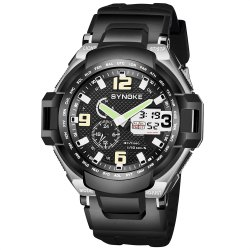 SYNOKE 67606 Outdoor Multifunctionable Student Electronic Male Watch -