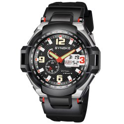 SYNOKE 67606 Outdoor Mountaineering Multifunction Men Watch -