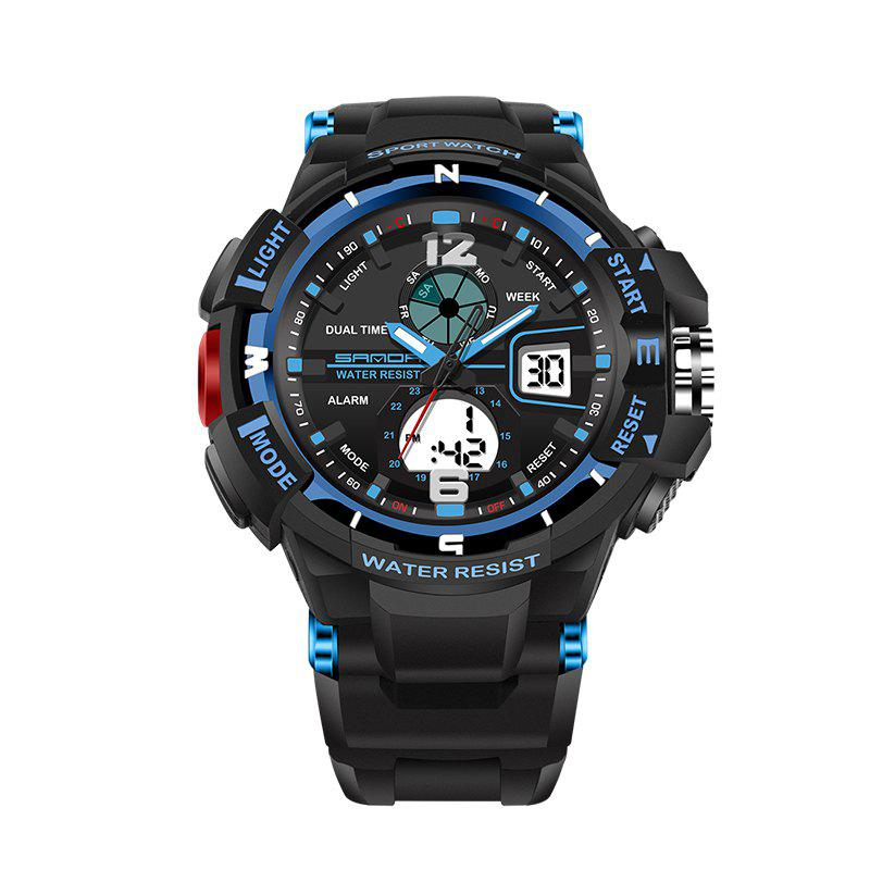 Trendy SANDA Large 5319 Fashion Outdoor Sports Men Watch Luminous Watch with Box