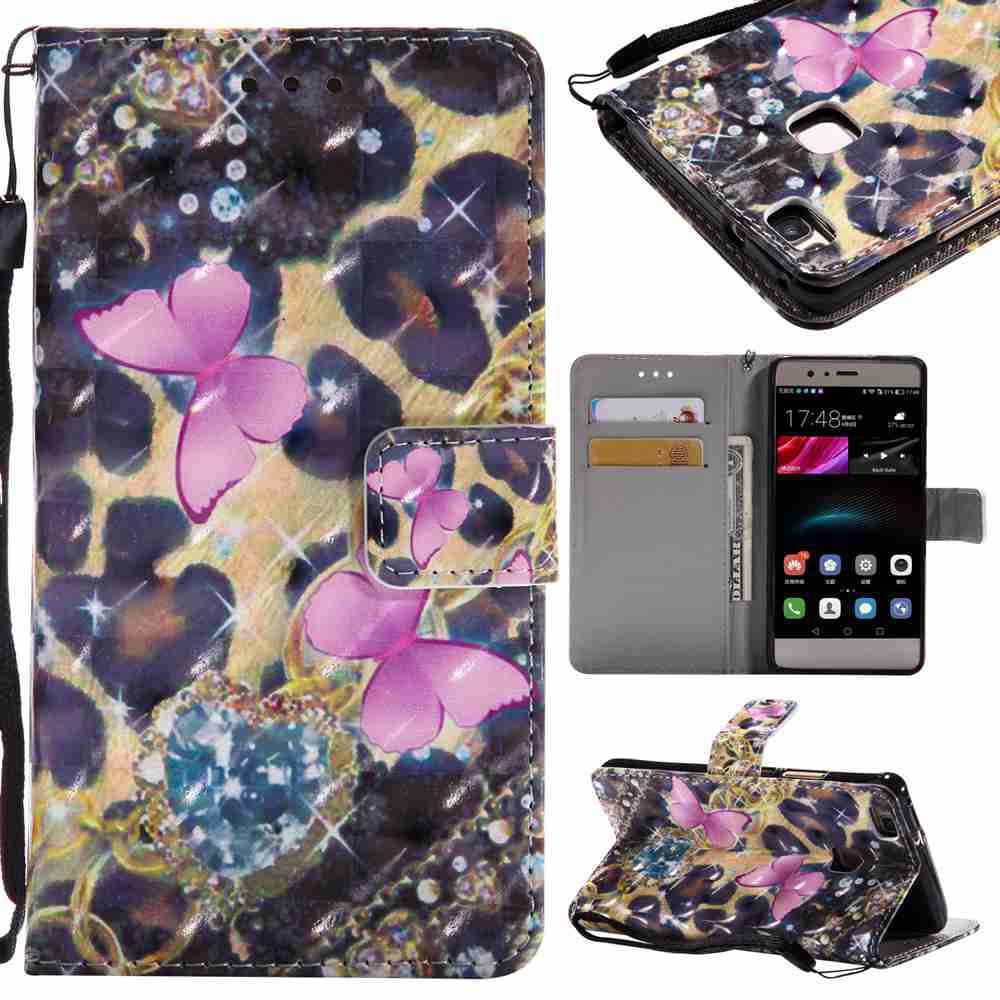 Chic Explosions 3D Painted PU Phone Case for HUAWEI P9 Lite