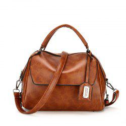 PU Leather Lady Handbag Fashion All Match Shoulder Messenger Bag -