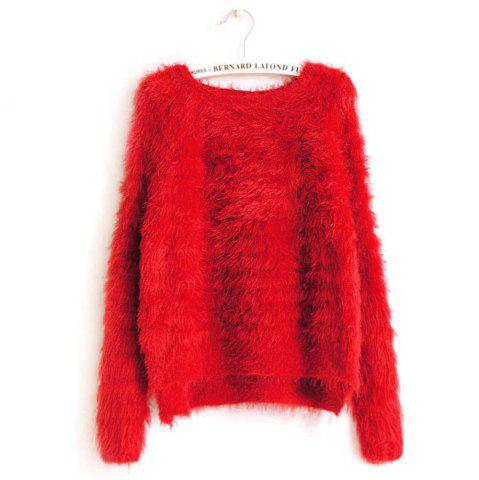 Trendy Imitation Mink Cashmere Pullover Sweater