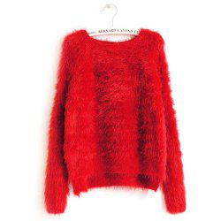 Imitation Mink Cashmere Pullover Sweater -