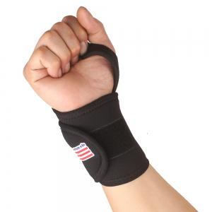 Shou Xin SX502 Monolithic Sport Gym Elastic Stretchy Wrist Guard Protector - Black -