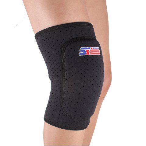 Latest Shou Xin SX614 Thicken Breathable Sport Knee Guard Protector - Black