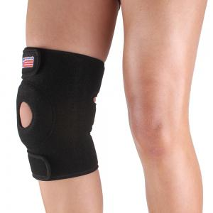 Shou Xin SX617 Variable Silicone 4 - Spring Knee Patella Guard - Black -