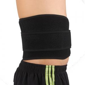 Shou Xin SX632 Double Press Magnetic Therapy 6 - spring Elastic Waist Guard Protector - Black -